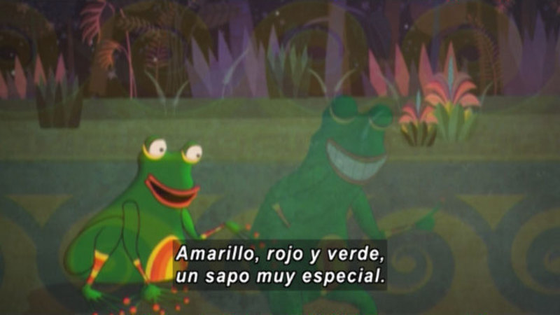 Still image from: Medialuna and the Magic Nights: The Frog in Love (Spanish)