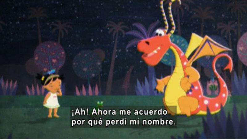 Still image from Medialuna And The Magic Nights: The Dragon Who Lost His Name (Spanish)