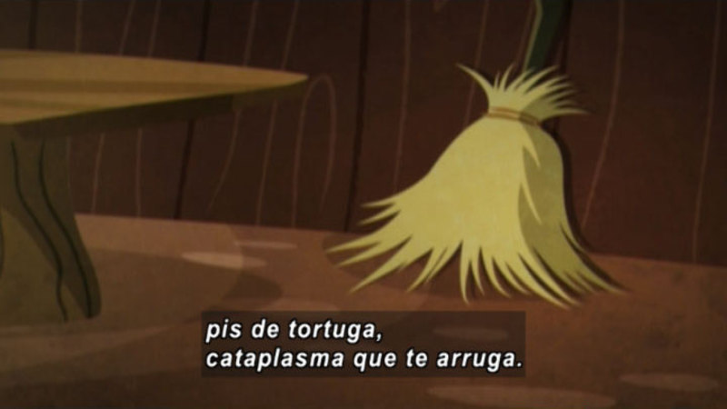 Still image from: Medialuna and the Magic Nights: The Witch and the Broom (Spanish)