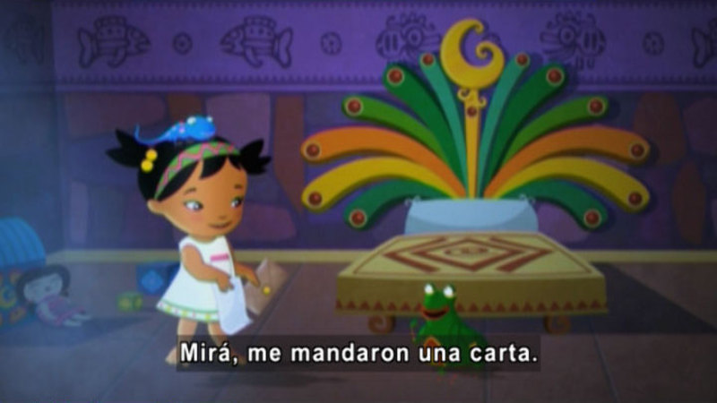 Still image from Medialuna and the Magic Nights: A Letter From the Prince (Spanish)