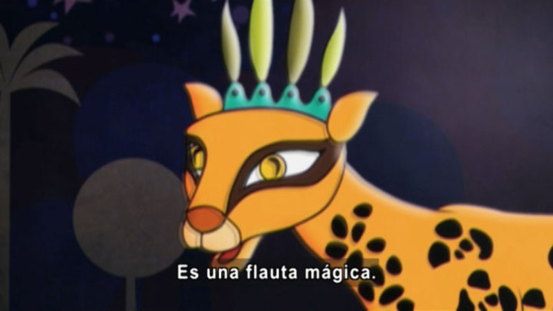 Still image from: Medialuna and the Magic Nights: Crescent's Birthday (Spanish)