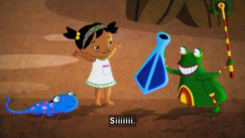 Still image from Medialuna and the Magic Nights: A Little Princess (or Thumbelina) (Spanish)