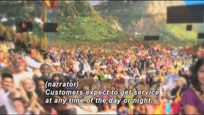 Still image from: Mark It: Customer Service