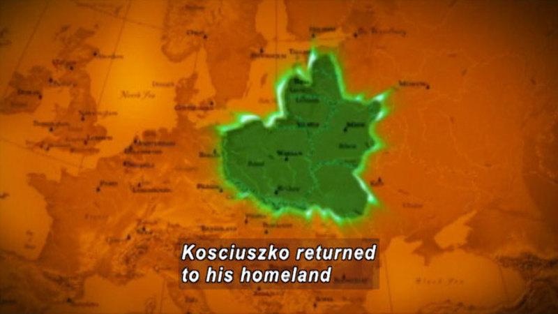 Still image from: Drive Thru History: Kosciuszko, Von Steuben & the Revolutionary War