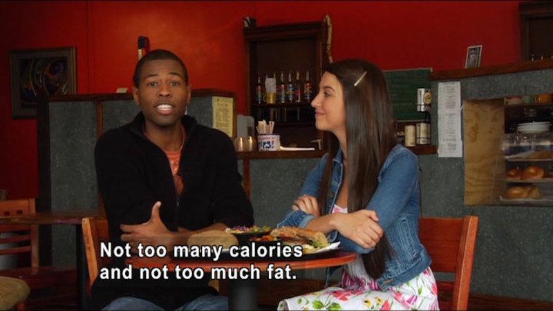 Still image from: Fast Food Nutrition