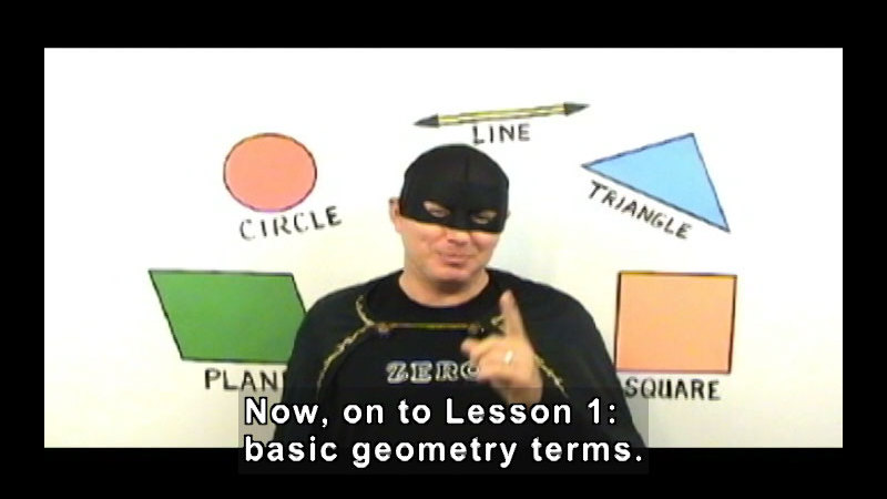 Still image from: Zero the Math Hero: Points, Lines & Planes