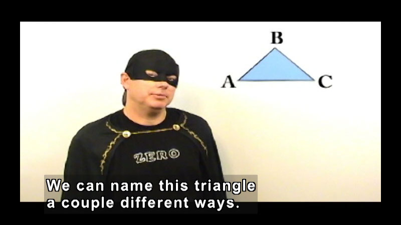 Still image from: Zero the Math Hero: Classifying Triangles