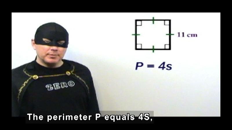 Still image from: Zero the Math Hero: Perimeter, Circumference & Area