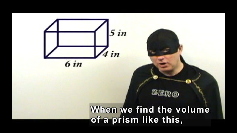 Still image from: Zero the Math Hero: Volume & Introduction to Proofs