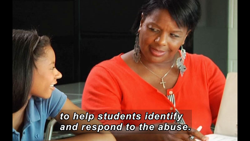 Still image from: Sexual Harassment at School (Educator Video)