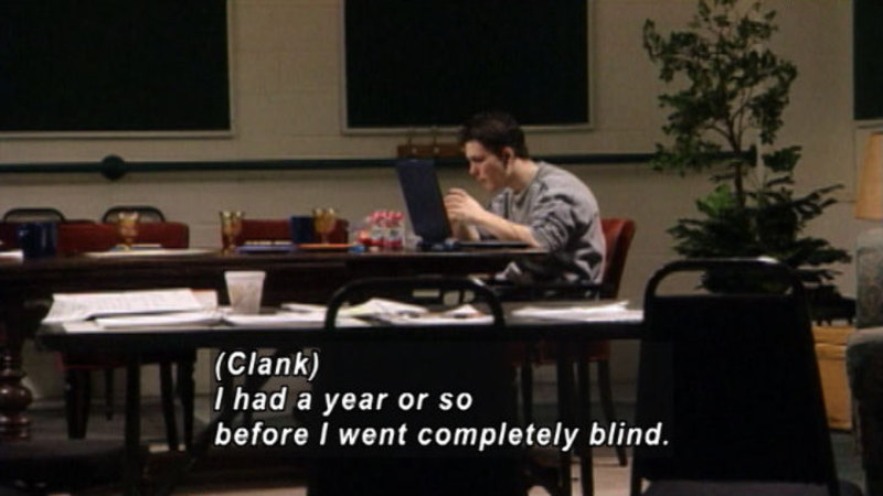 Still image from: Acting Blind