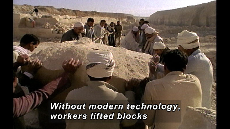 Still image from: Who Built the Pyramids?