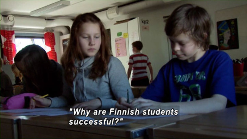 Still image from: The Finland Phenomenon: Inside the World's Most Surprising School System