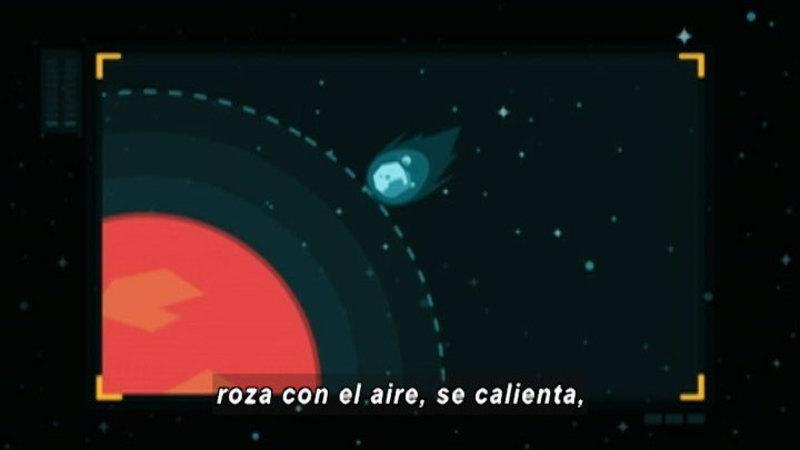 Still image from Around the Universe: Meteorum (Spanish)