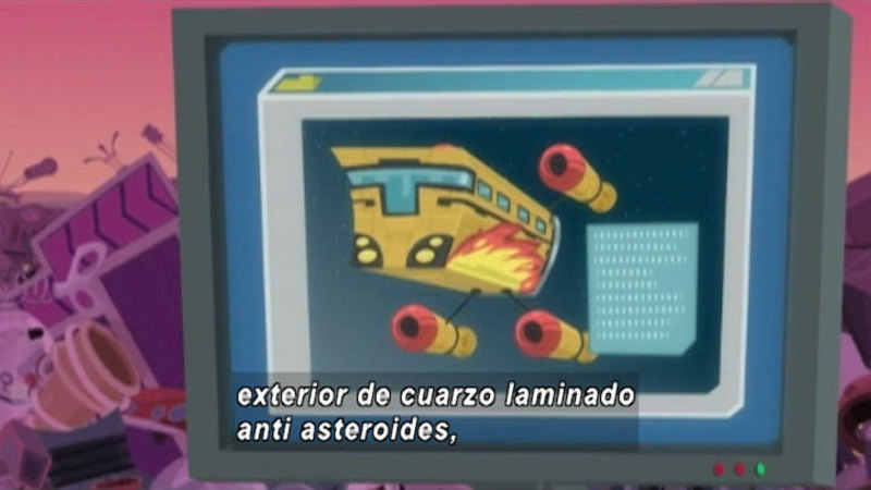 Still image from Around the Universe: Spaceships (Spanish)