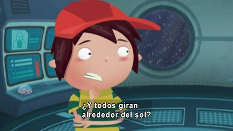 Still image from Around the Universe: Gravitational Assistance (Spanish)
