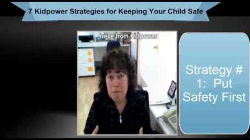 Still image from: Kidpower Strategy 1: Put Safety First