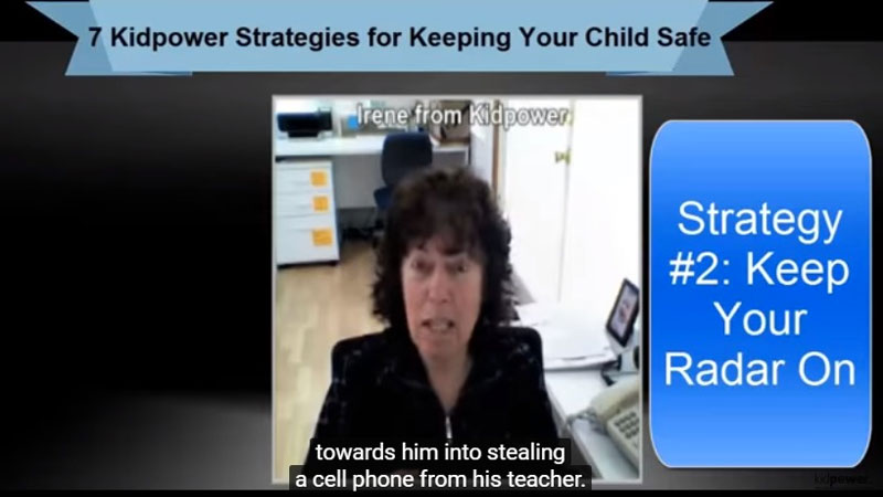 Still image from: Kidpower Strategy 2: Keep Your Radar On