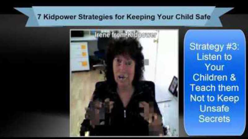 Still image from: Kidpower Strategy 3: Listen to Your Children and Teach Them Not to Keep Unsafe Secrets