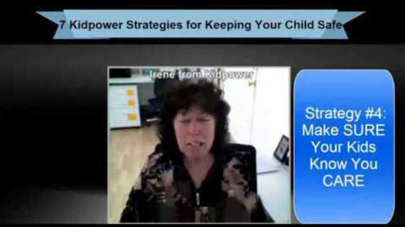 Still image from: Kidpower Strategy 4: Make Sure Your Kids Know You Care