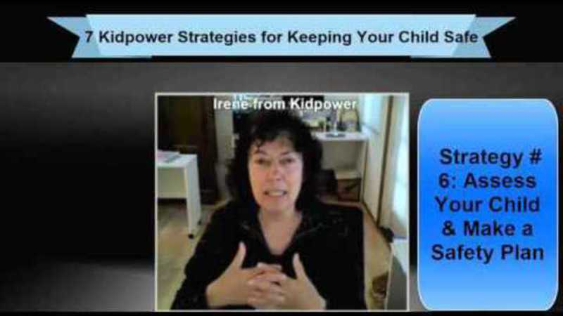 Still image from: Kidpower Strategy 6: Assess Your Child and Make Safety Plans