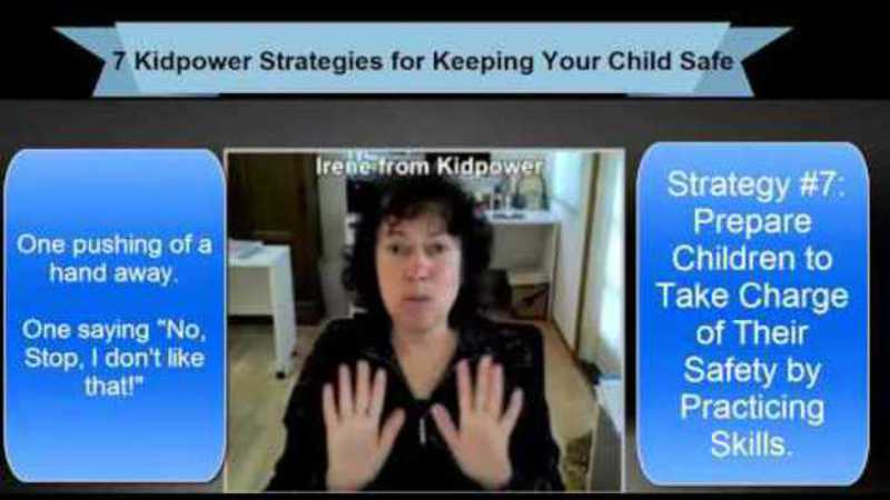 Still image from: Kidpower Strategy 7: Prepare Children to Take Charge of Their Safety by Practicing Skills