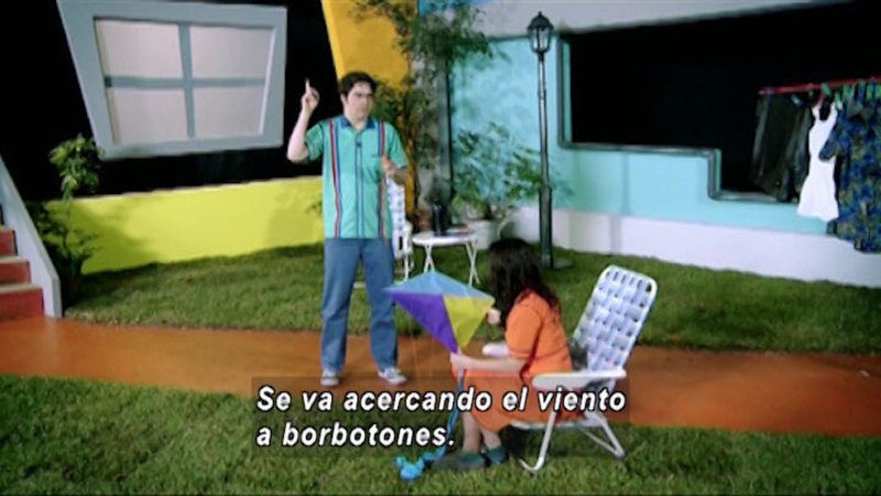 Still image from The House of Science: Starch And Kites (Spanish)