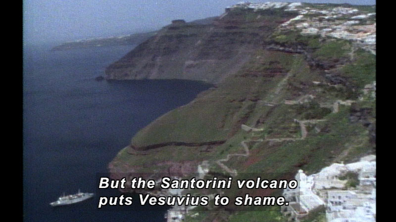 Still image from Wild Chronicles: Santorini Volcano