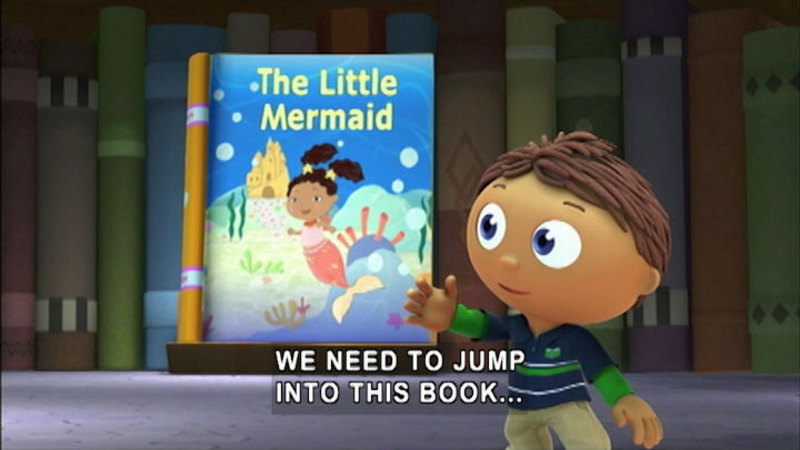Still image from Super Why! The Little Mermaid