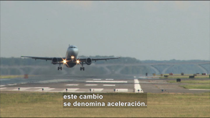 Still image from Science Video Vocab: Acceleration (Spanish)