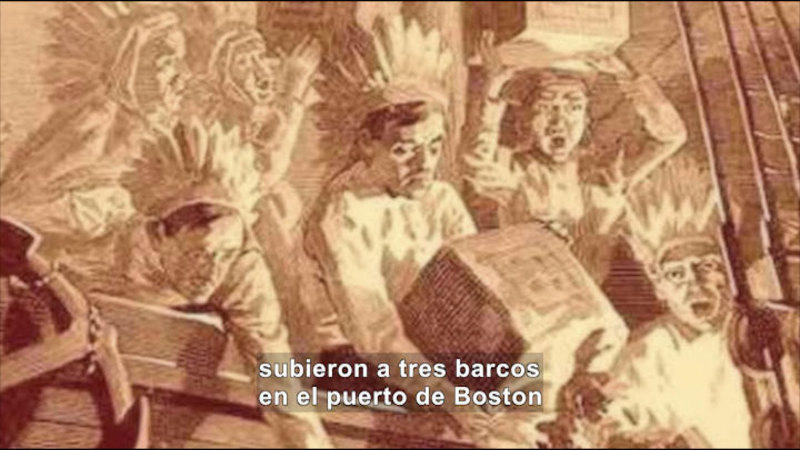 Still image from Social Studies Video Vocab: American Revolution (Spanish)