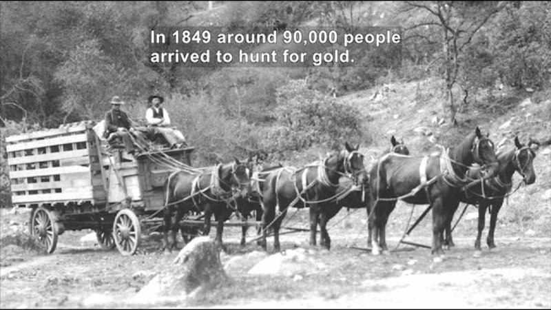 Still image from: Social Studies Video Vocab: Gold Rush