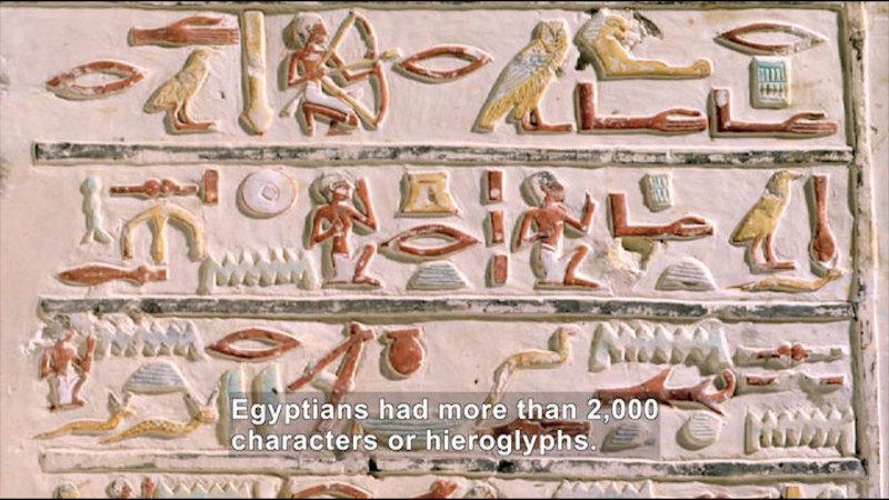 Still image from: Social Studies Video Vocab: Hieroglyphics
