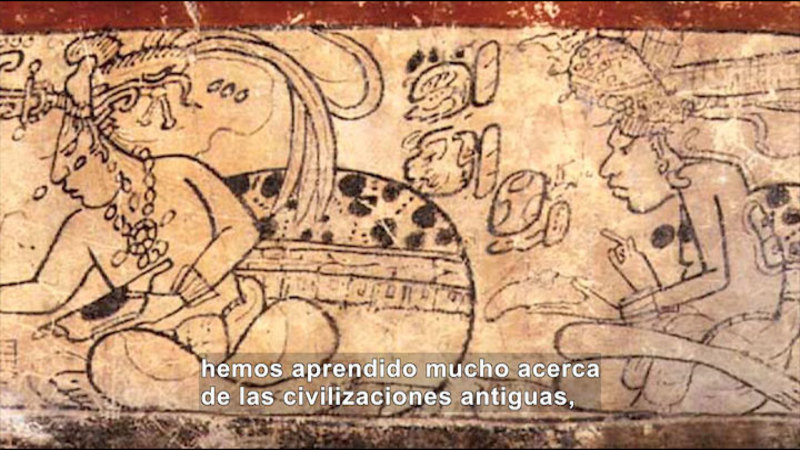 Still image from: Social Studies Video Vocab: Hieroglyphics (Spanish)