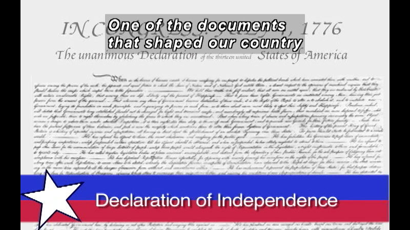 Still image from: Our Founding Documents