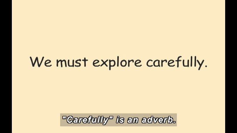 Still image from: K-3 Adjective and Adverbs