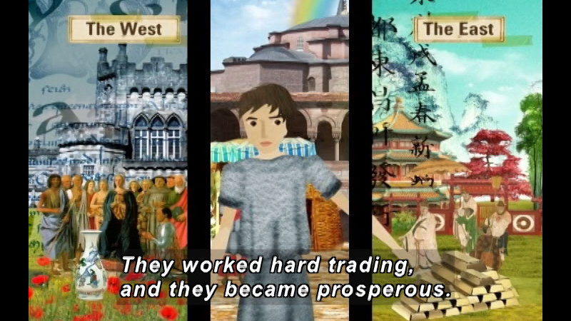 Still image from: The Time Compass: The Byzantine Empire
