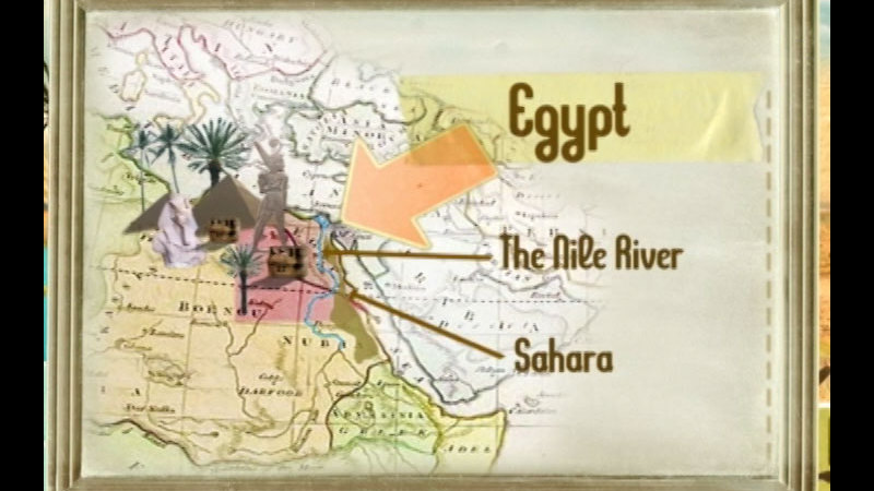 Still image from: The Time Compass: Ancient Egypt