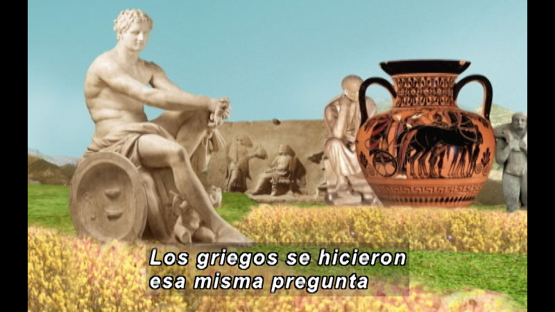 Still image from The Time Compass: Classical Greece (Spanish)