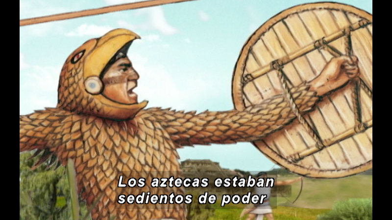 Still image from The Time Compass: The Aztec Empire (Spanish)