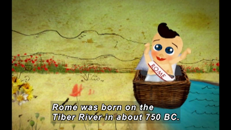 Still image from: The Time Compass: Imperial Rome