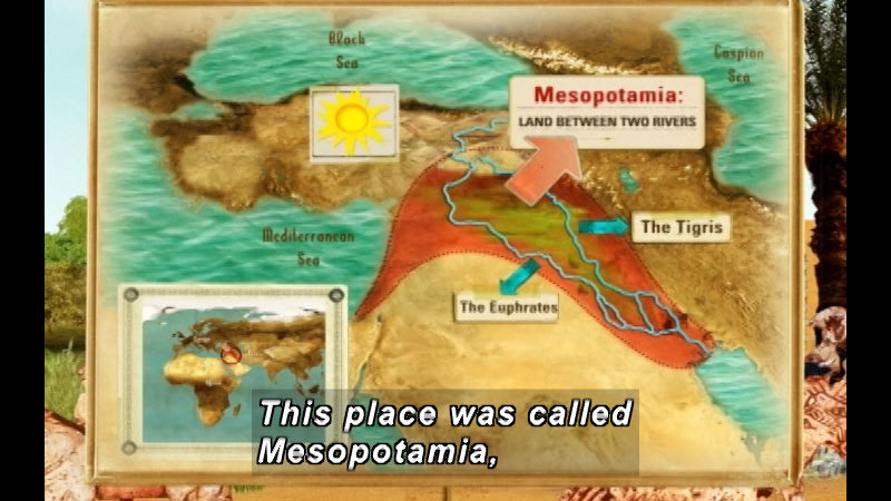 Still image from: The Time Compass: Mesopotamia