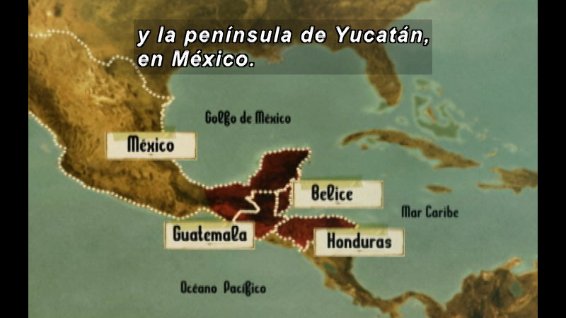 Still image from: The Time Compass: The Mayas (Spanish)