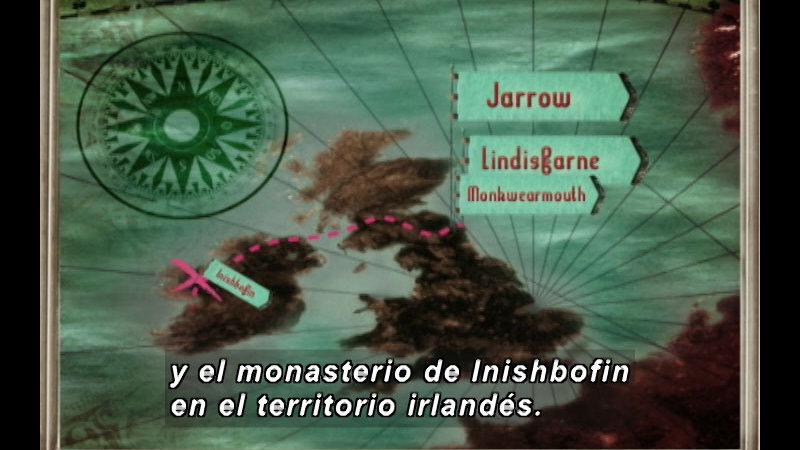 Still image from The Time Compass: Vikings And Celts (Spanish)