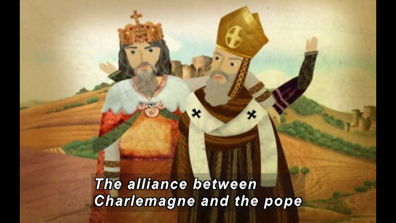 Still image from: The Time Compass: The Carolingian Empire