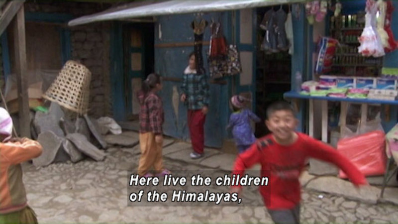 Still image from: Nepal: Children of the Himalayan Sherpa