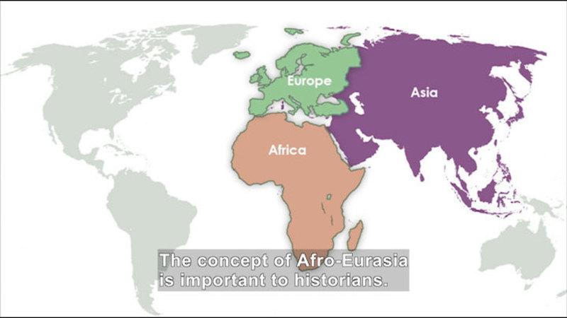 Still image from: Social Studies Video Vocab: Afro-Eurasia