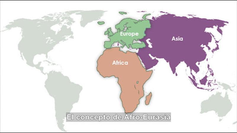 Still image from: Social Studies Video Vocab: Afro-Eurasia (Spanish)