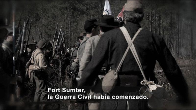 Still image from: Social Studies Video Vocab: Civil War (Spanish)