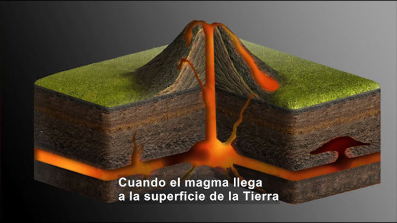 Still image from Science Video Vocab: Volcano (Spanish)